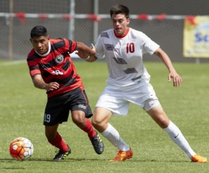 Kevin Partida. UNLV men's soccer during a game against Pacific at Peter Johann Field on September 6, 2015. (R. Marsh Starks / UNLV Photo Services)